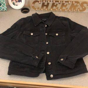 J crew NWT black denim jacket